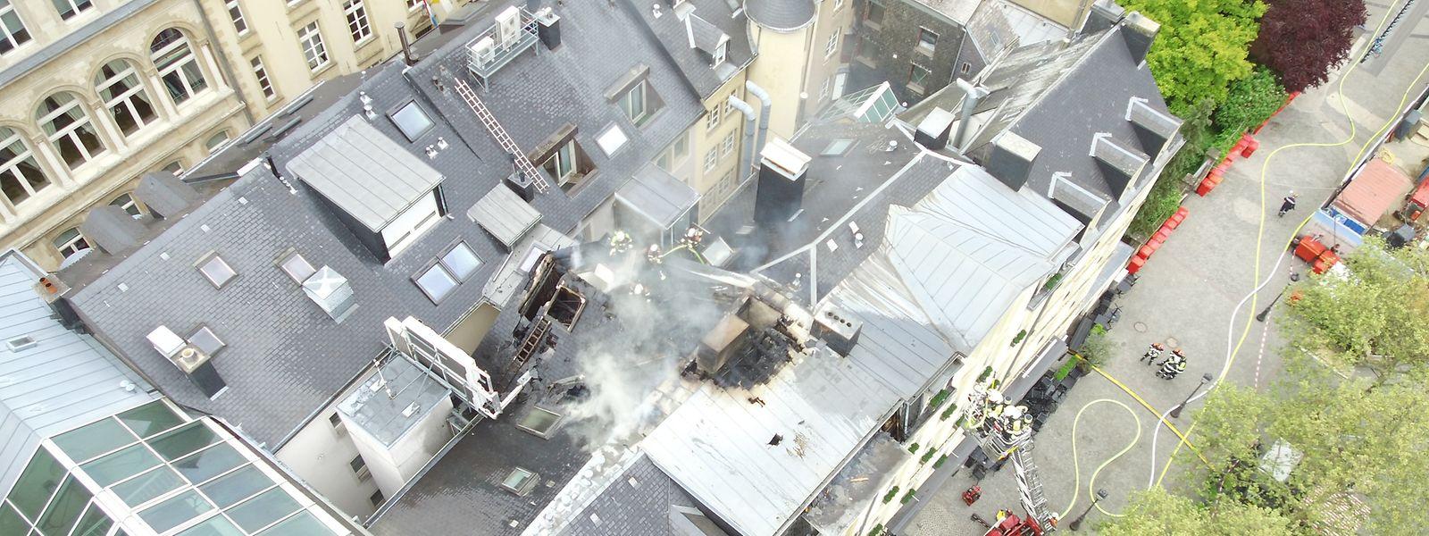 Am Freitag brannte es am Knuedler.
