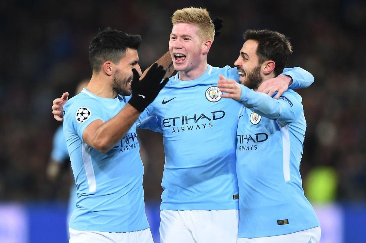 Sergio Agüero, Kevin De Bruyne et Bernardo Silva (de g. à dr.), un trio de cracks au service d'un Manchester City conquérant