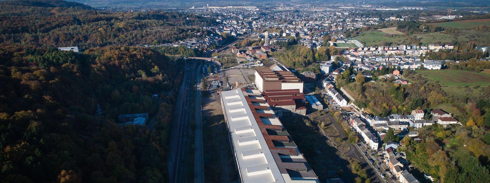 La structure de l'ancien laminoir sera conservée au sein du nouveau quartier baptisé «Neischmelz».