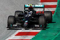 Mercedes' Finnish driver Valtteri Bottas steers his car during the Austrian Formula One Grand Prix race on July 5, 2020 in Spielberg, Austria. (Photo by LEONHARD FOEGER / POOL / AFP)