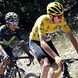 Cycling - The Tour de France cycling race - The 178-km (110.6 miles) Stage 12 from Montpellier to Chalet-Reynard - 14/07/2016 - Yellow jersey leader Team Sky rider Chris Froome of Britain (R) and Movistar Team rider Nairo Quintana of Colombia ride on the road.  REUTERS/Jean-Paul Pelissier