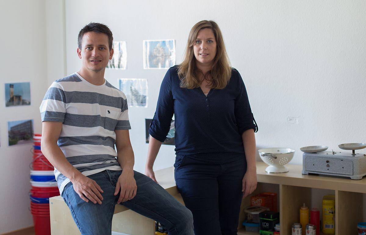 Jeff Kauffmann, Projektleiter bei SNJ, und Claudine Buck, Pädagogin bei Arcus, haben die Erneuerung des Onlineportals koordiniert.