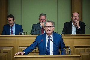 Dépôt du projet de loi concernant le budget des recettes et dépenses de l'Etat pour 2017 - Pierre Gramegna  - Photo : Pierre Matgé