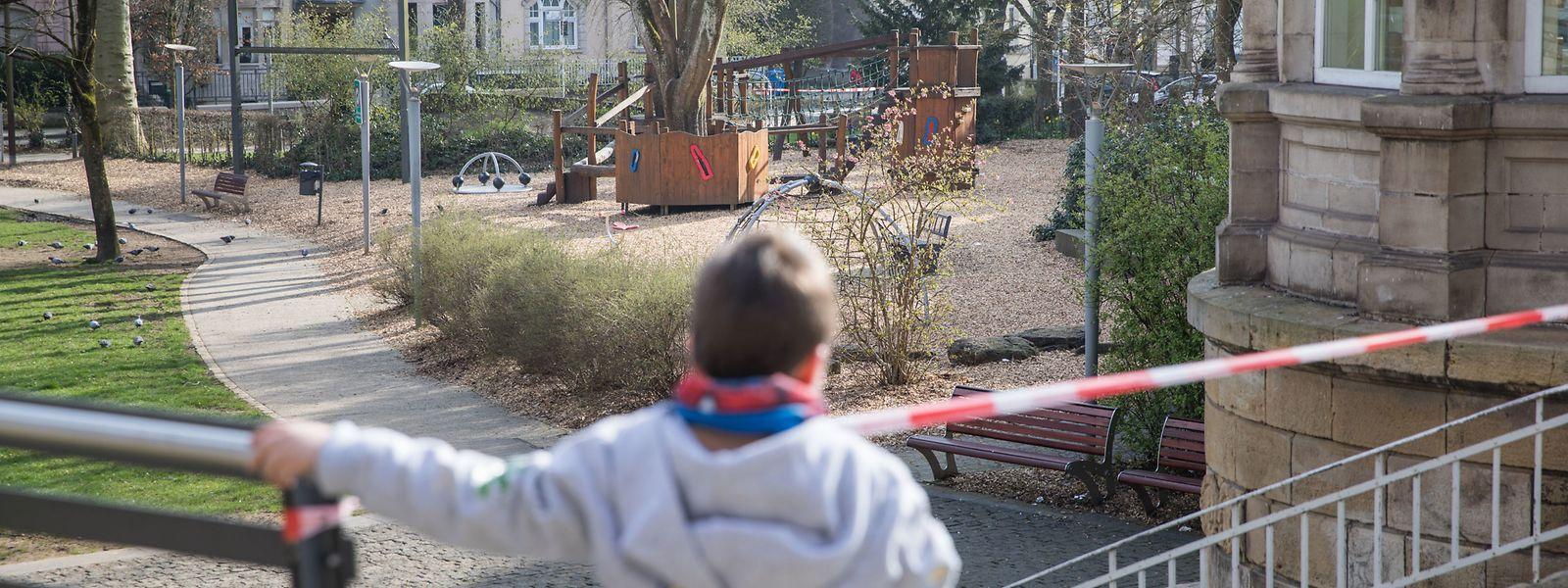 Auch der Park Gerlache in Differdingen ist geschlossen.