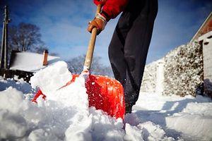 Schneeschaufel, Schnee, Bürgersteig