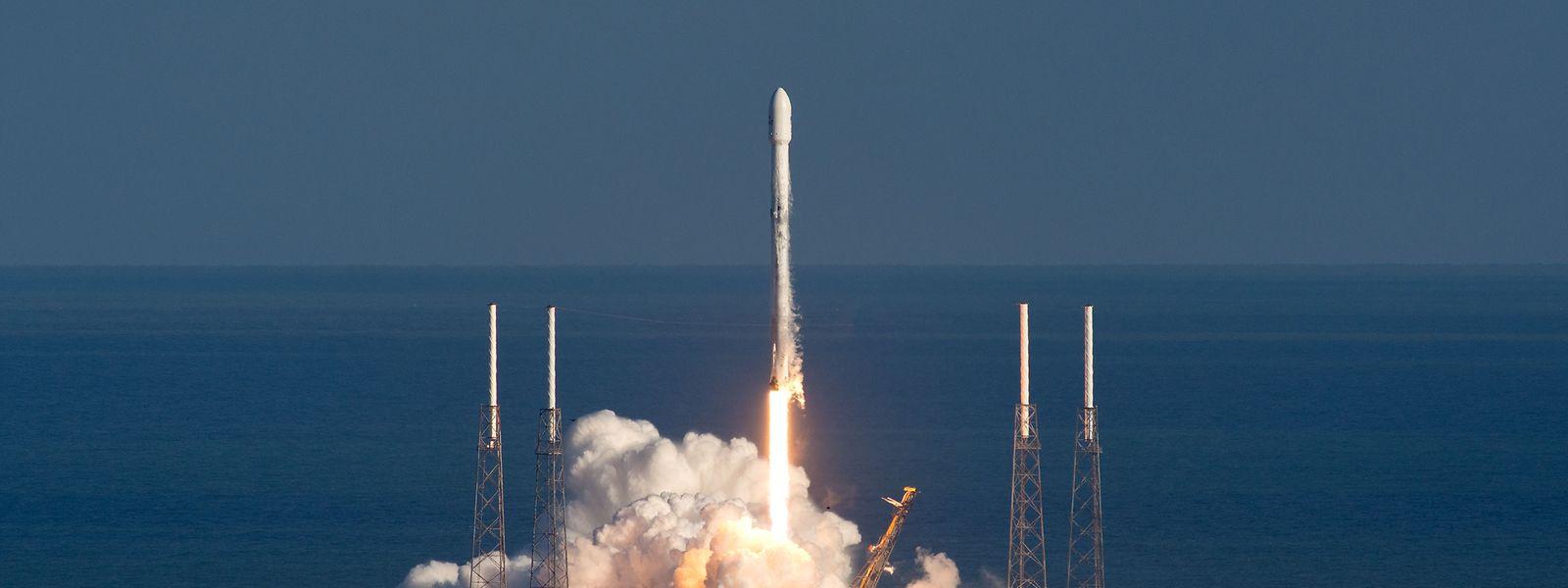 Momento do lançamento do GovSat-1.