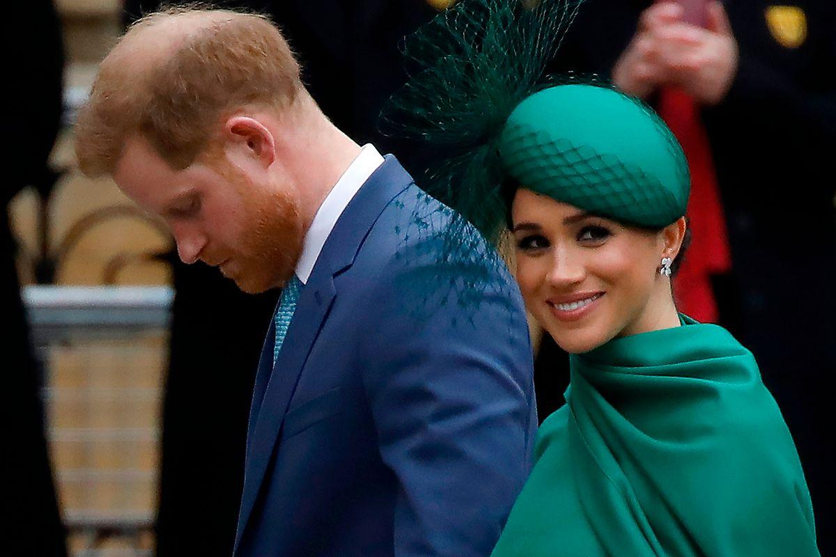 März 2020: Harry und Meghan bei der jährlichen Commenwealth-Messe in Westminster Abbey in London.