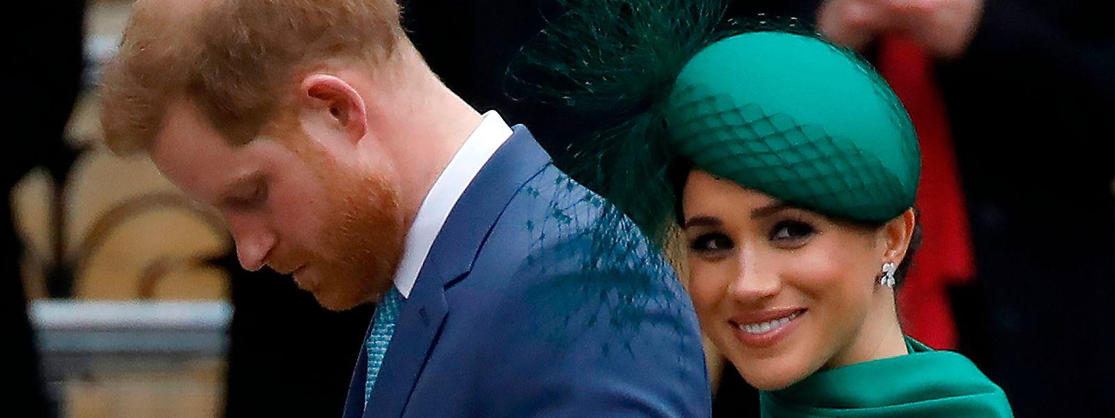 Prinz Harry und Herzogin Meghan bei einer Zeremonie in Westminster Abbey.