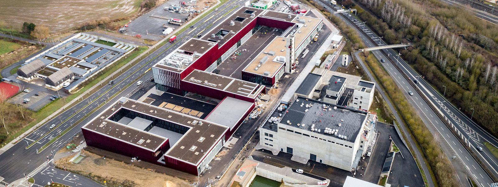Auf 5,2 Hektar entsteht derzeit das nationale Rettungszentrum am Boulevard Kockelscheuer.