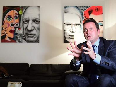Luxembourg's Prime Minister Xavier Bettel speaks during an interview