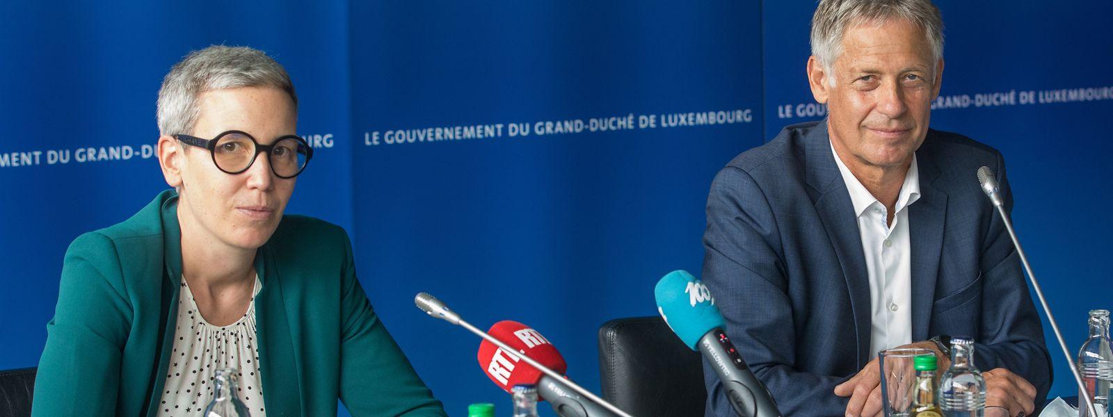 Justizministerin Sam Tanson präsentierte am Mittwoch zusammen mit Polizeiminister Henri Kox das Jucha-Gesetz.