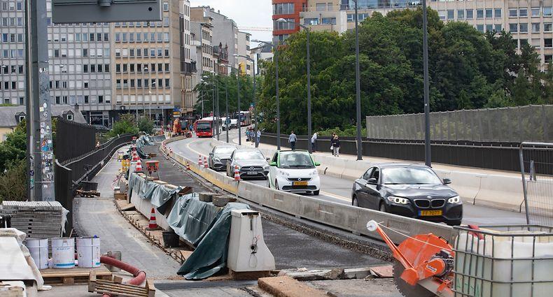 Lokales,Congé collectif. Diese Baustellen gehen weiter..hier:Al Bréck,Viaduc. Foto: Gerry Huberty/Luxemburger Wort