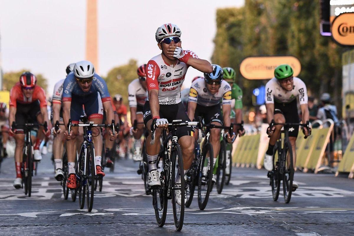Pour son premier Tour de France, Caleb Ewan a remporté trois étapes dont la dernière sur les Champs-Elysées.