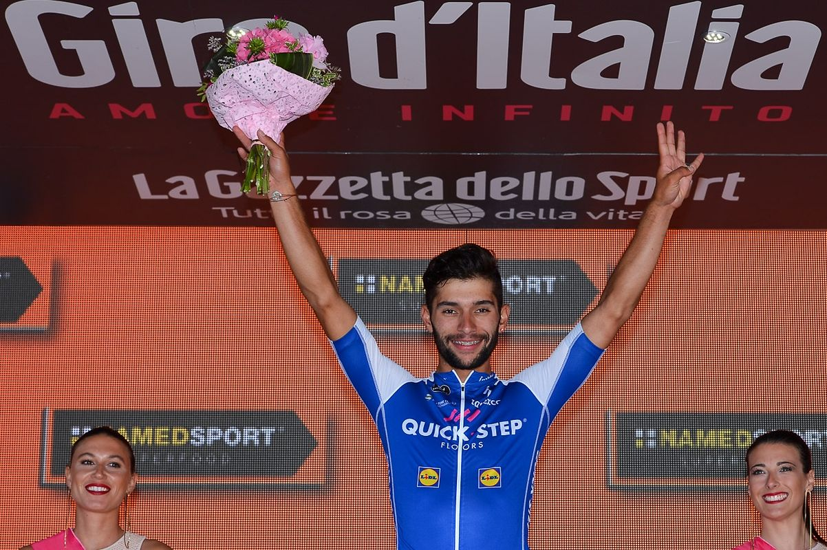Etappensieger Fernando Gaviria (COL/Quick-Step) .
