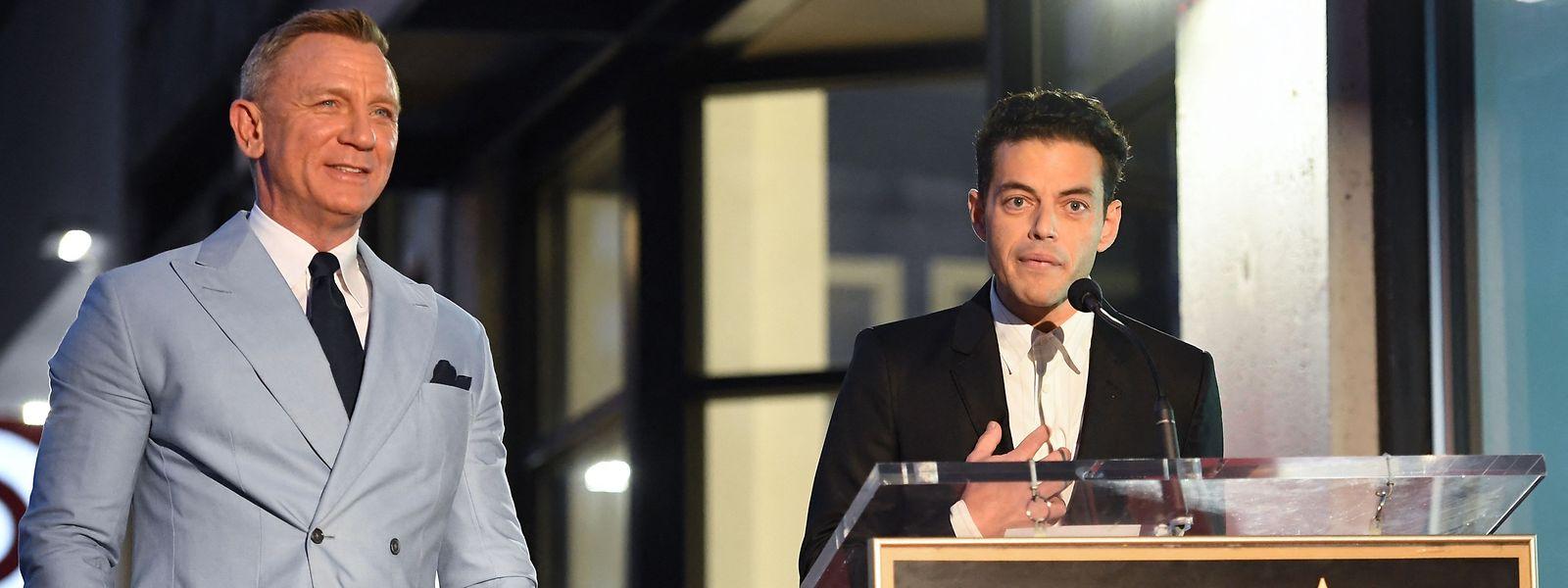 Rami Malek (r.) lobte Craig als zuvorkommenden und herzlichen Kollegen.
