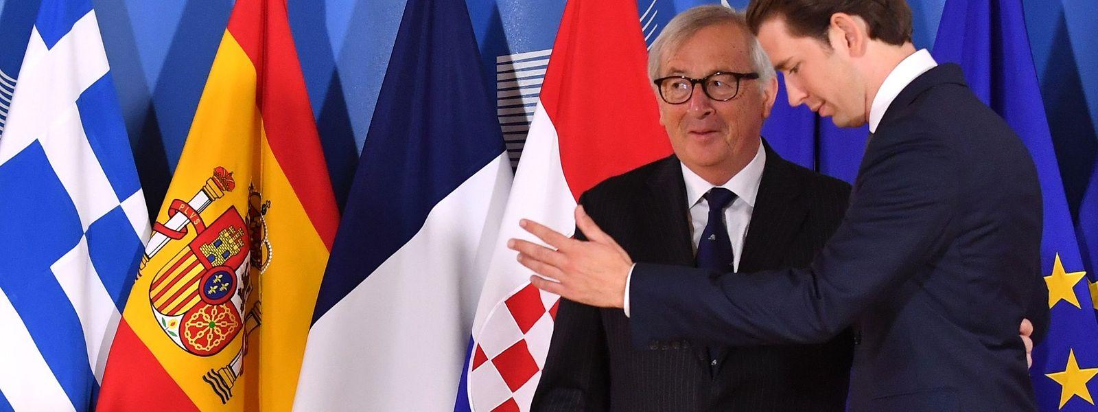 Ob der österreichische Kanzler Sebanstian Kurz Jean-Claude Juncker mit seinen Vorschlägen überzeugen konnte, ist fraglich.