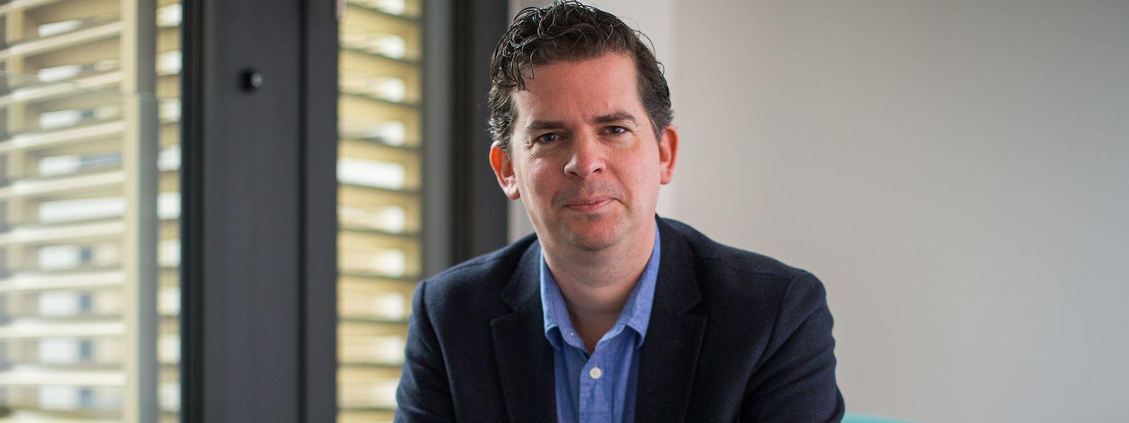 """Thomas Lenz ist Bildungsforscher an der Uni Luxemburg und einer der beiden Herausgeber des Sammelbands """"Die Schule der Nation""""."""