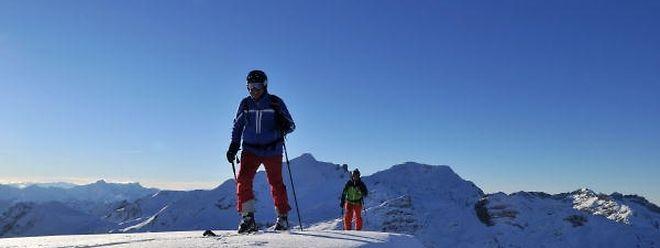 Unterwegs in der Nähe von Lech/Zürs: Bei der Ski-Ride-Tour kommen die Teilnehmer durch mehrere Skigebiete
