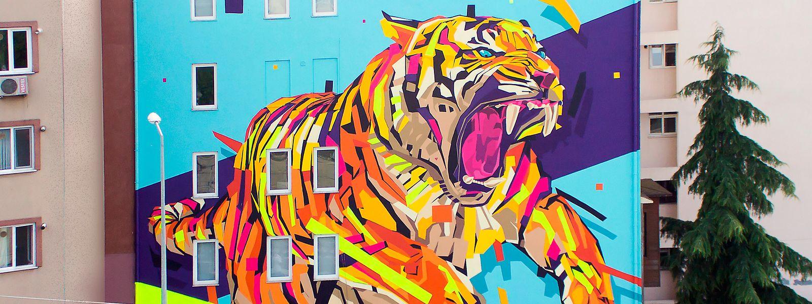 Arlin Graffs Tier-Wandbilder finden sich mittlerweile überall auf der Welt – so wie hier in Istanbul.