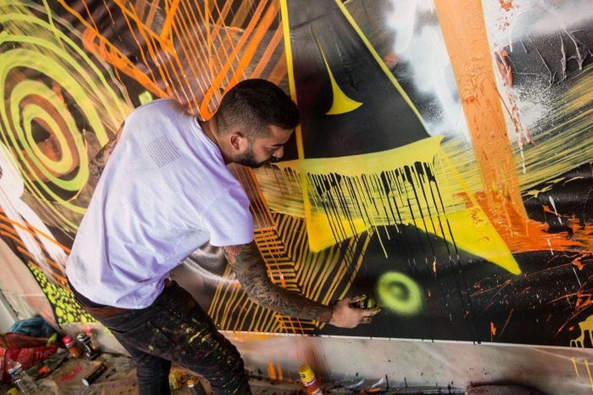 Eigens zur Grundsteinlegung im vergangenen September hatte der Künstler Eric Mangen in einem Teil des ehemaligen Parkhauses ein Graffiti realisiert. Doch wurde das Werk kurze Zeit später gestohlen.
