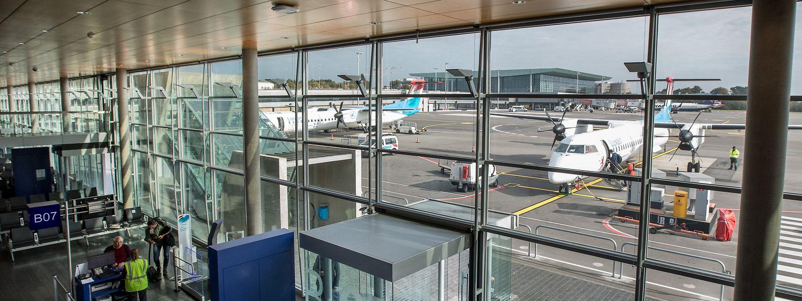 2017 wurden am Flughafen Findel 3,60 Millionen Passagiere abgefertigt.