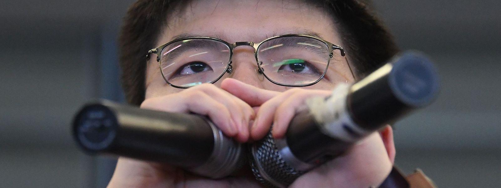 Joshua Wong befand sich am Donnerstag in Polizeigewahrsam.