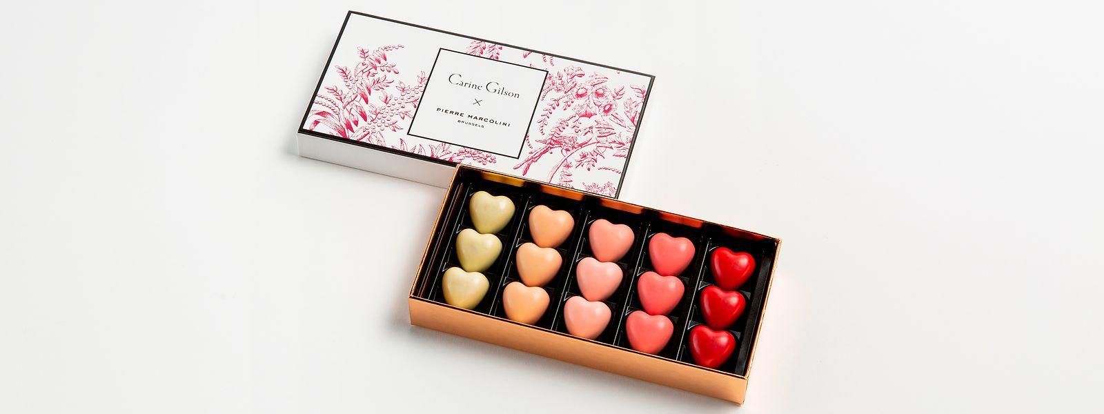 Wenn Schokolade auf Lingerie trifft: die gemeinsame Valentinstagskollektion von Pierre Marcolini und Carine Gilson.