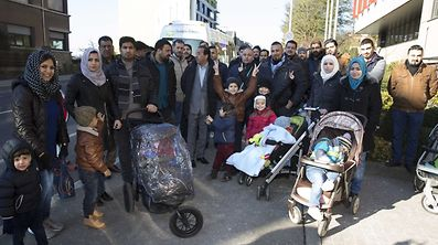 Manifestation des demandeurs de protection internationale iraqiens / Foto: Steve EASTWOOD