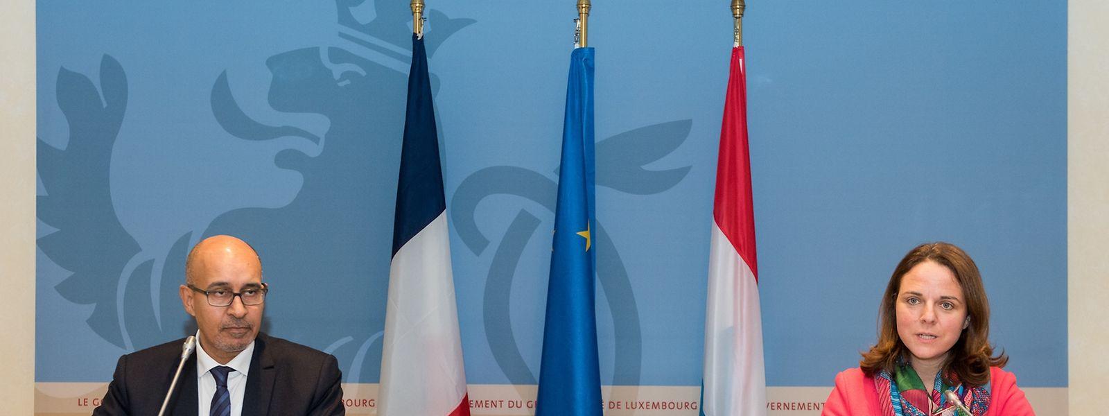 Harlem Désir, secrétaire d'État aux Affaires européennes, et Corinne Cahen, ministre de la Grande Région.