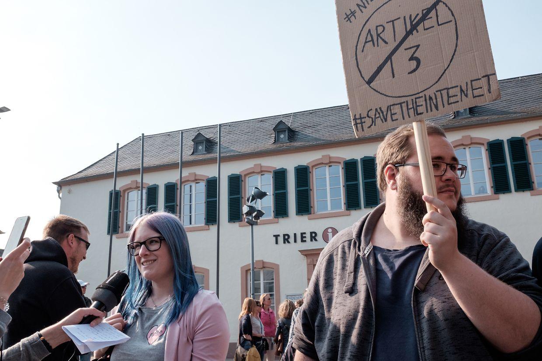 Save Your Internet Trier - Demo für ein freies Internet.