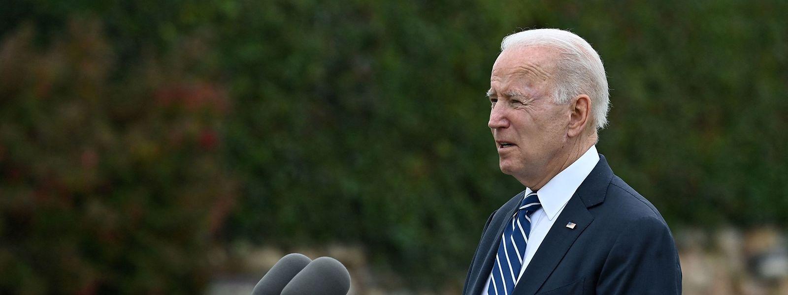 US-Präsident Joe Biden hält eine Ansprache in St Ives (Cornwall) vor dem Start des dreitägigen G7-Gipfels.