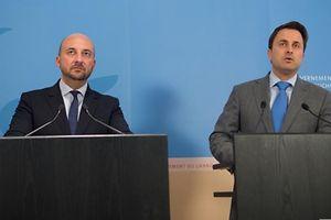 Premierminister Xavier Bettel (DP) (r.) und Vizepremier Etienne Schneider (LSAP) dürften sich nicht sonderlich über die Ergebnisse der Sonntagsfrage freuen.