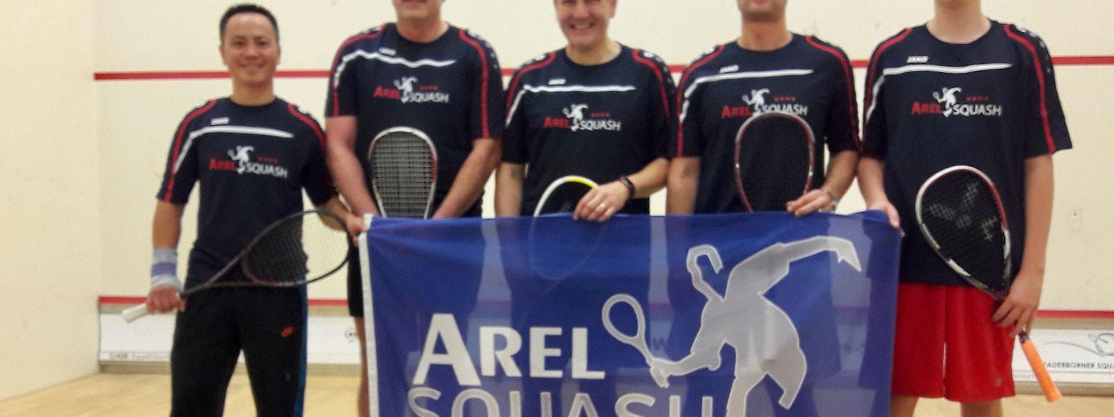 L'équipe de l'Arel Squash qui a pris part à la Coupe d'Europe.