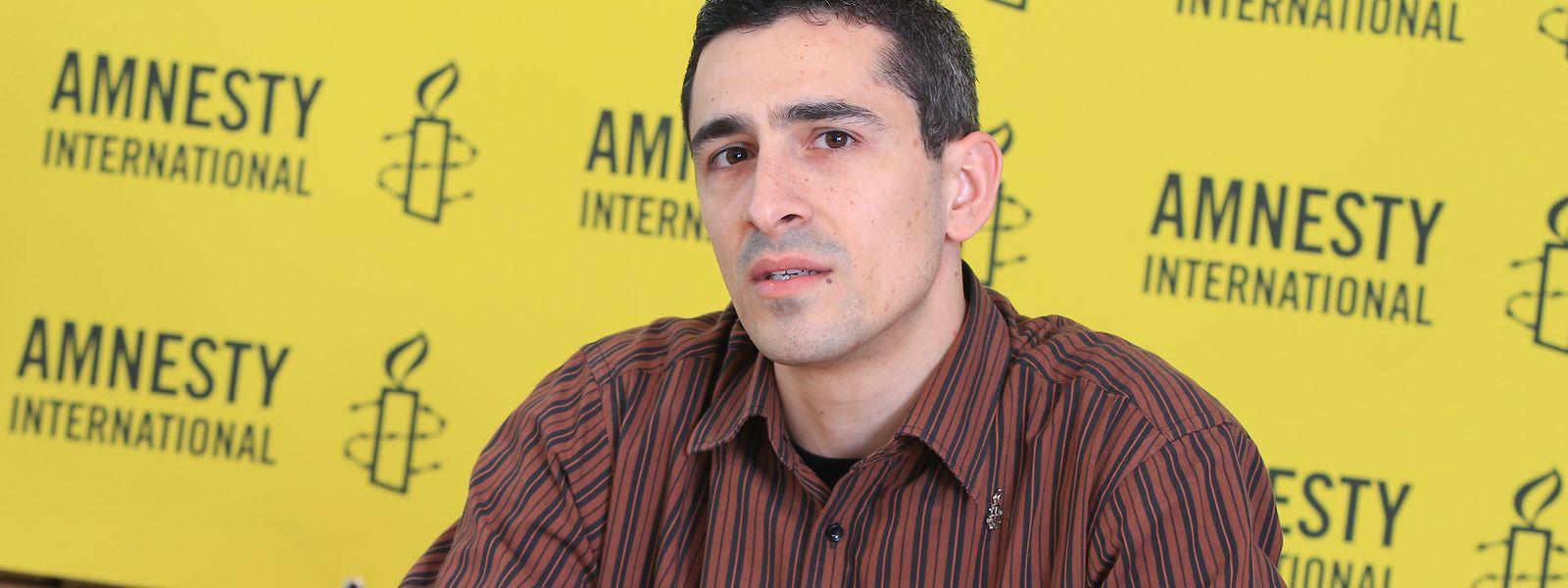 David Pereira, presidente da Amnistia Internacional Luxemburgo.