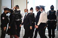 Nicolas Sarkozy auf dem Weg zur Urteilsverkündung.
