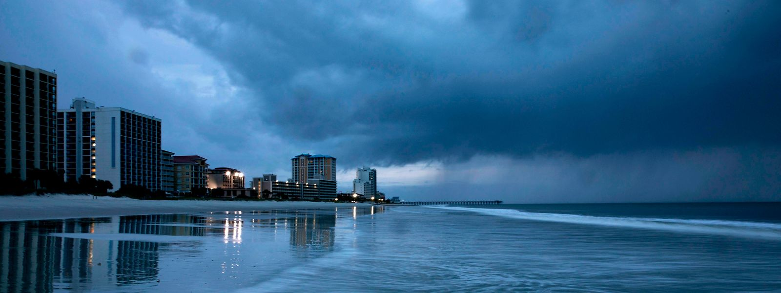"In Myrtle Beach, South Carolina: ""Florence"" ist in Sicht."