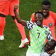 Ahmed Musa a inscrit un doublé pour le Nigeria contre l'Islande.