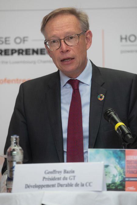 """Geoffroy Bazin, ehemaliger CEO von BGL BNP Paribas und Präsident der Arbeitsgruppe """"nachhaltige Entwicklung"""" bei der Handelskammer."""