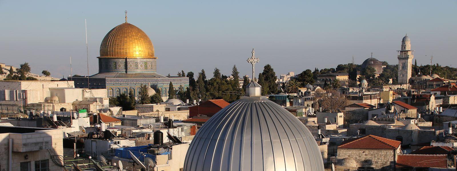 Der Felsendom dominiert das Stadtbild von Jerusalem.