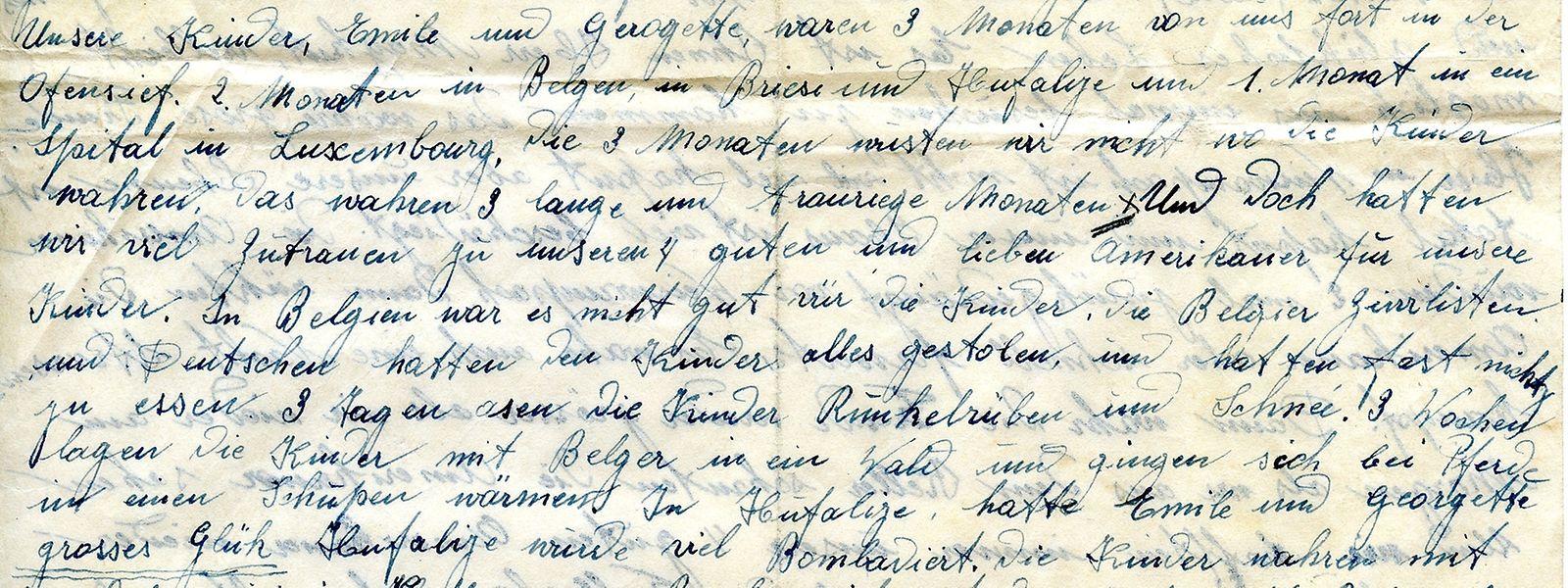 """Kaum war der Brief aus dem Nachlass von US-Soldat Pier Majkut im """"Luxemburger Wort"""" erschienen, da konnte Jean Thommes aus Weiswampach auch schon als Absender des vor 75 Jahren verfassten Schreibens identifiziert werden."""