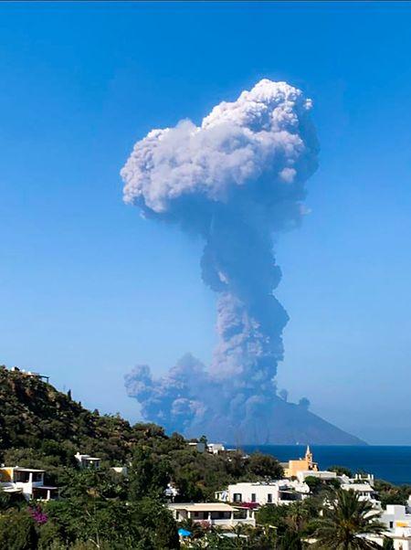 Ein Foto der Explosion am Mittwoch.