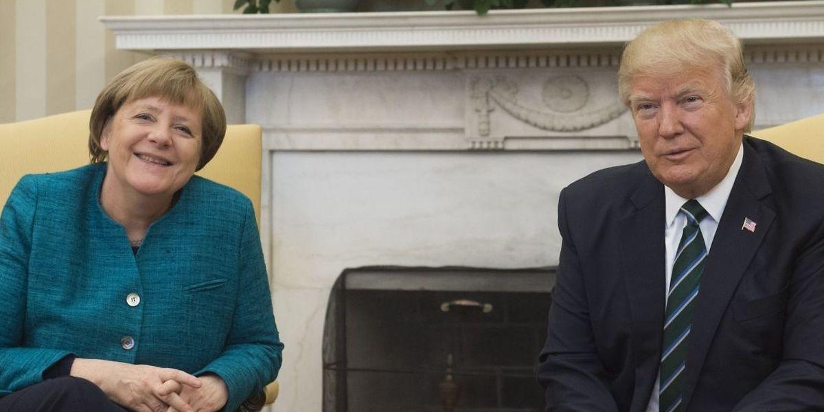 Beim ersten Treffen im März 2017 gibt es etliche Unstimmigkeiten zwischen der deutschen Kanzlerin Angela Merkel und US-Präsident Donald Trump.