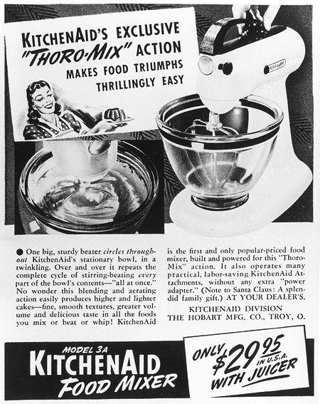 Une publicité pour le tout premier robot KitchenAid dans les années 1920