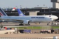 Eine Maschine von Air France am Dulles International Airport in Virginia.