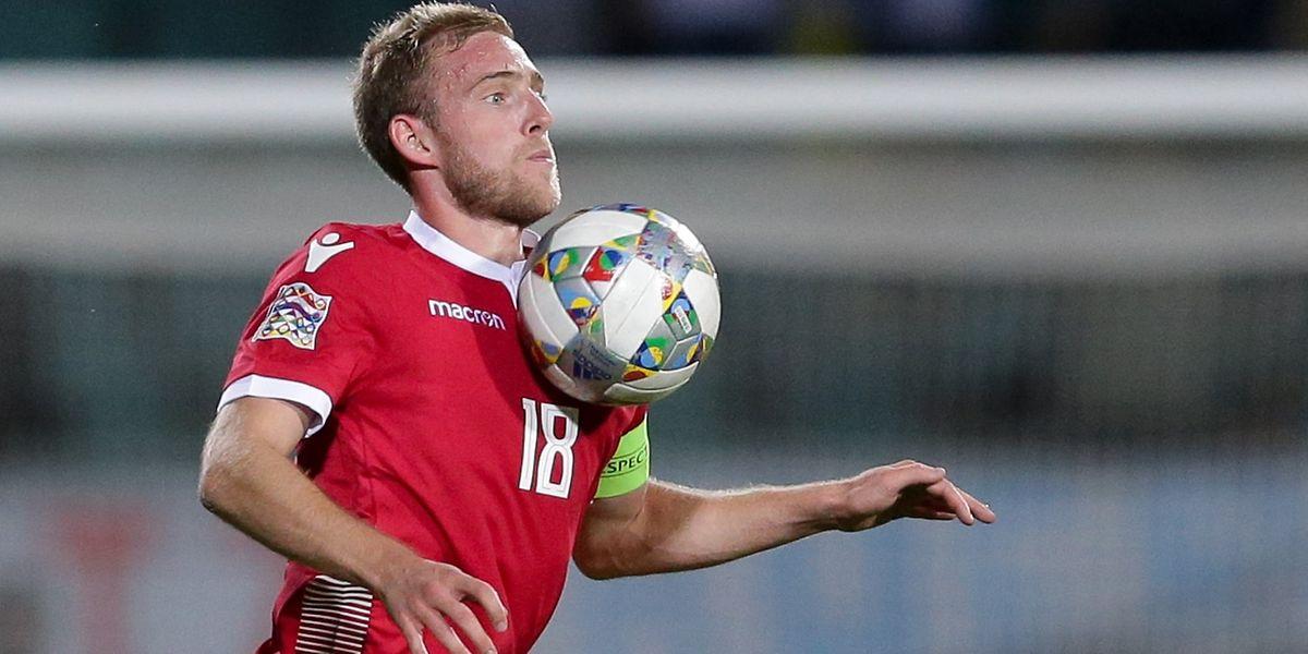 Laurent Jans führt die FLF-Auswahl in San Marino als Kapitän aufs Feld.