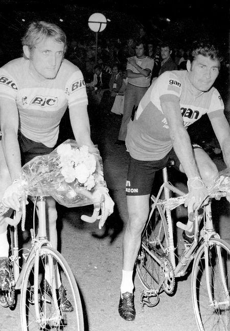 Johny Schleck (l.) war etwa zur gleichen Zeit wie Raymond Poulidor.