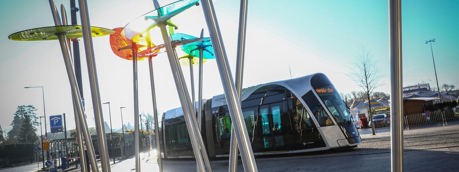 In Limpertsberg gehört die Straßenbahn inzwischen fest zum Stadtbild.