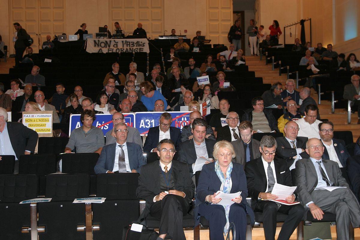 Dominique Gros, le maire de Metz (en bas à droite)  «pense que le Luxembourg devrait s'intéresser à cet élargissement».