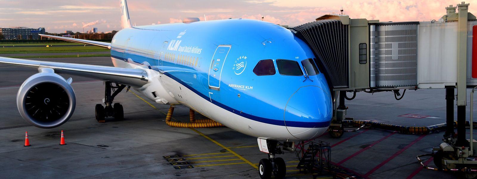 Eine 787 der niederländischen Fluggesellschaft KLM: