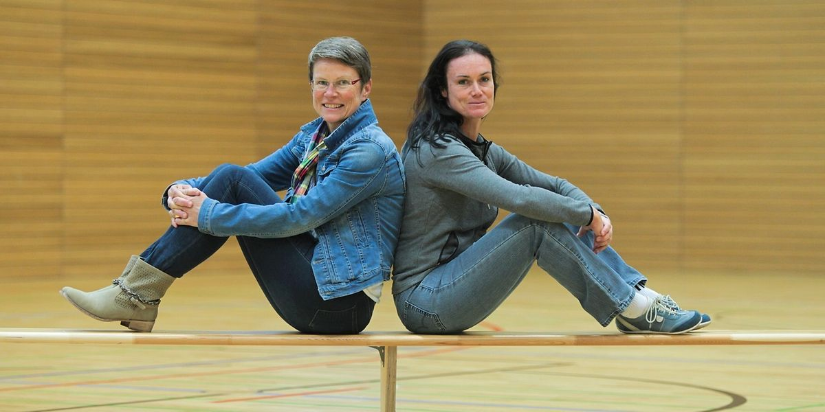 Immer noch in der Halle: Karin Mayer und Raymonde Moes im Jahr 2015.